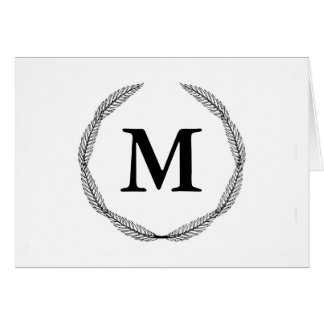 Monogram / Laurel Wreath Card