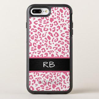 Monogram Leopard Animal Pattern OtterBox Symmetry iPhone 7 Plus Case