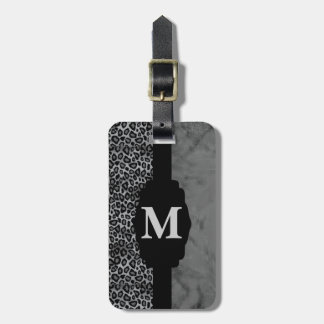 Monogram Leopard Animal Print Tag For Bags
