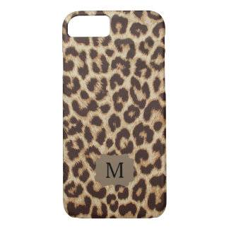 Monogram Leopard Print iPhone 7 Case