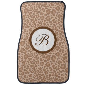 Monogram Leopard Skin Car Mats Floor Mat