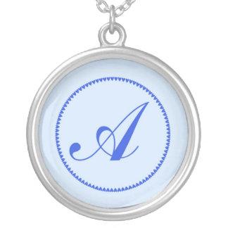 Monogram letter A necklace