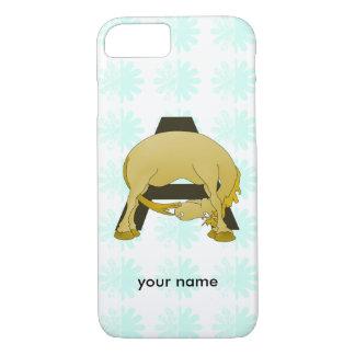 Monogram  Letter A Pony iPhone 7 Case