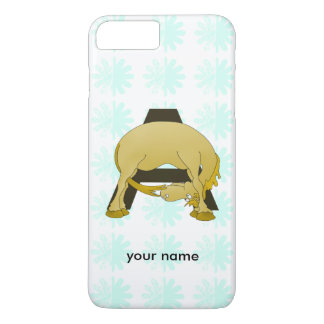 Monogram  Letter A Pony iPhone 7 Plus Case