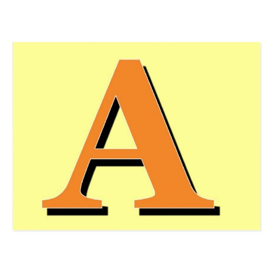 Monogram Letter A Postcard