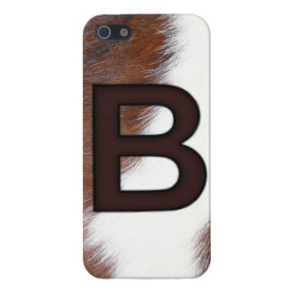 Monogram Letter B Cowhide BRAND - Initial WESTERN iPhone 5 Cover
