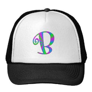 Monogram Letter B Fun Mesh Hats