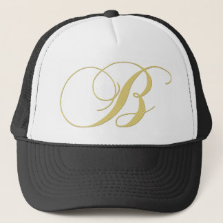 Monogram Letter B Golden Single Trucker Hat