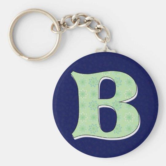 Monogram Letter B Key Ring