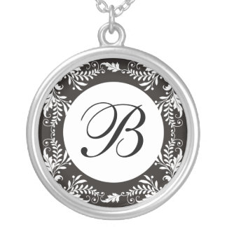 Monogram Letter B Pendant Necklace