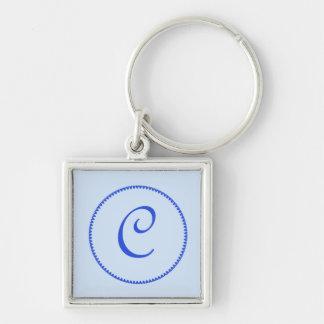 Monogram letter C keychain