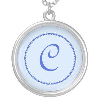 Monogram letter C necklace
