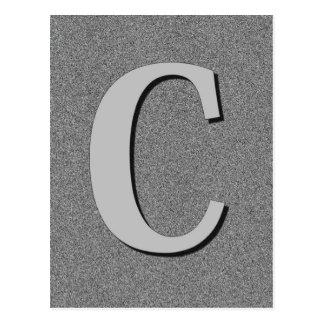 Monogram Letter C Post Card
