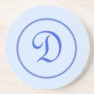 Monogram letter D coaster / drinks mat