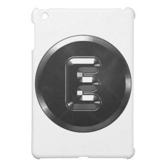 Monogram letter E Alphabet steel style iPad Mini Cases