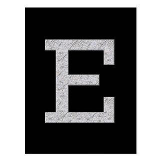 Monogram Letter E Postcard