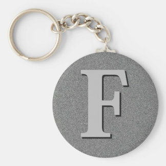 Monogram Letter F Key Ring