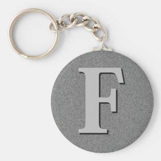 Monogram Letter F Key Ring