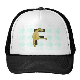 Monogram Letter F Pony Trucker Hat