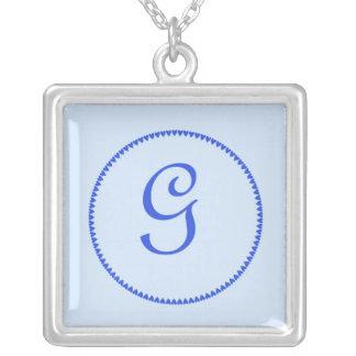 Monogram letter G necklace