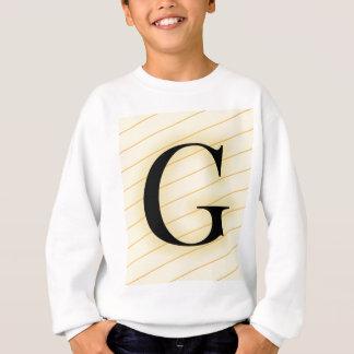Monogram Letter - G (orange) Sweatshirt
