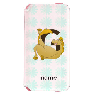 Monogram Letter G Pony Incipio Watson™ iPhone 6 Wallet Case