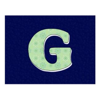Monogram Letter G Post Cards