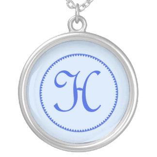 Monogram letter H necklace