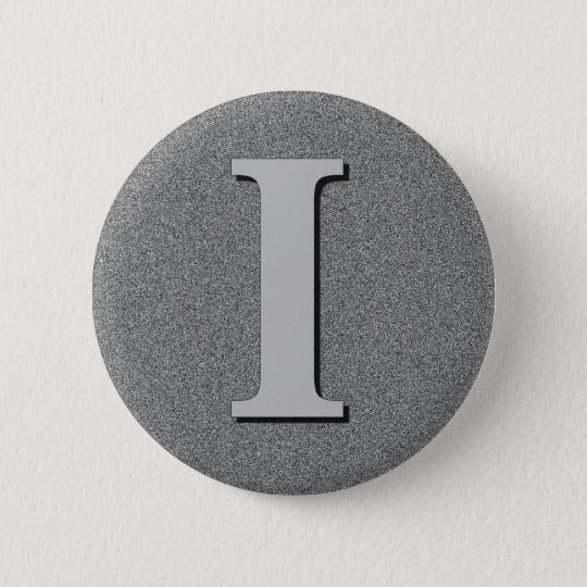 Monogram Letter I 6 Cm Round Badge