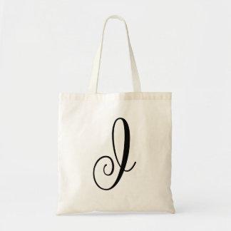 "Monogram Letter ""I"" Budget Tote-Canvas Tote Bag"