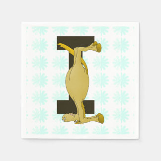 Monogram Letter I Pony Personalised Disposable Napkin