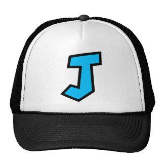Monogram Letter J Hats