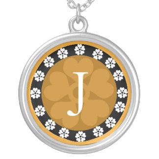 Monogram Letter J Pendant Necklace