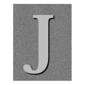 Monogram Letter J Postcard
