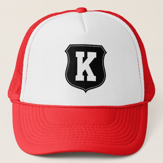 Monogram letter K hat | Personalised sports caps