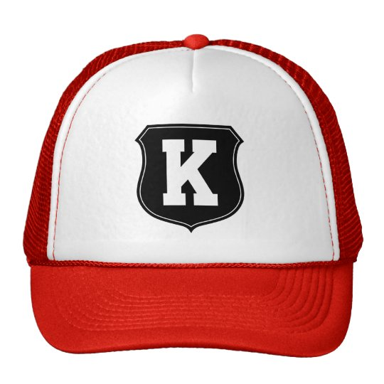 Monogram letter K hat | Personalised sports caps