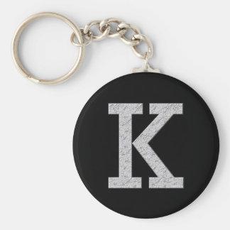 Monogram Letter K Key Ring