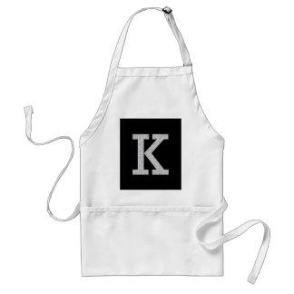 Monogram Letter K Standard Apron