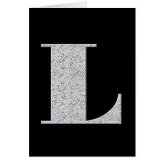 Monogram Letter L Card
