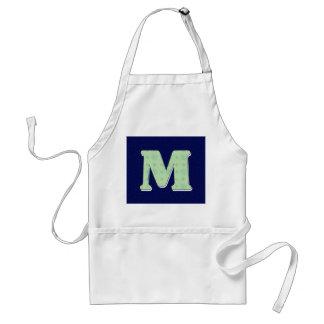 Monogram Letter M Adult Apron