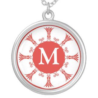 Monogram Letter M Initial Pendant Necklace
