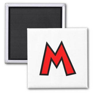 Monogram Letter M Magnet