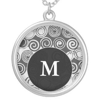 Monogram Letter M Pendant Necklace