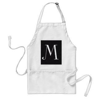 Monogram Letter M Standard Apron