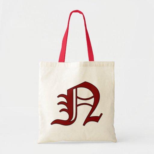 Monogram Letter N in Canterbury Style Bags