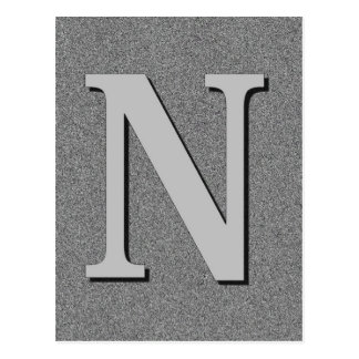 Monogram Letter N Postcard