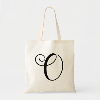 "Monogram Letter ""O"" Budget Tote-Canvas Tote Bag"