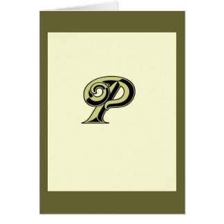 Monogram Letter P Greeting Cards