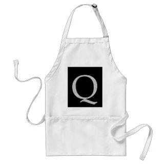 Monogram Letter Q Aprons