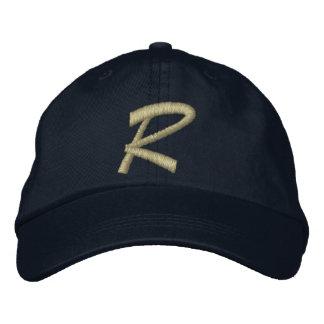 Monogram Letter R Embroidered Baseball Cap